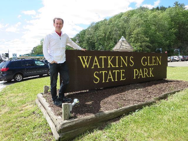 Visits Watkins Glen State Park, Finger Lakes, New York, USA