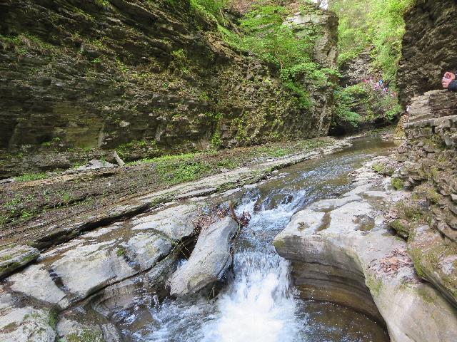 Waterfall at Watkins Glen State Park, Finger Lakes, New York, USA