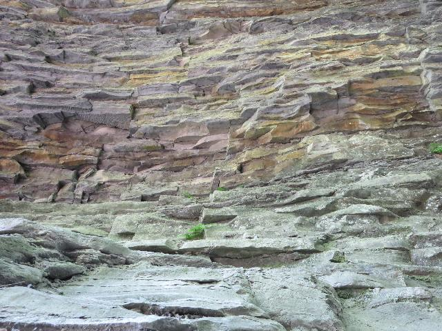 Rock formation pattern at Watkins Glen State Park, Finger Lakes, New York, USA