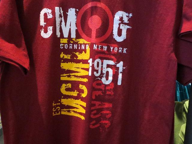 The Corning Museum of Glass in Corning, New York red graphic t-shirt
