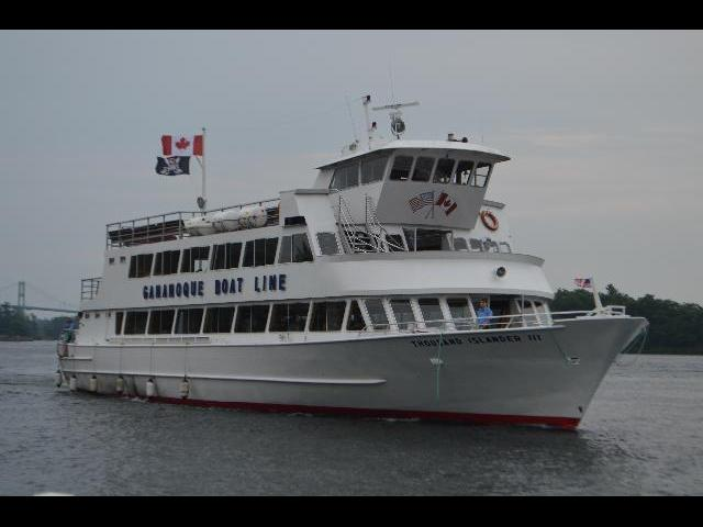 1000 Islands Cruise ship boat on the St. Lawrence River in Ontario Canada