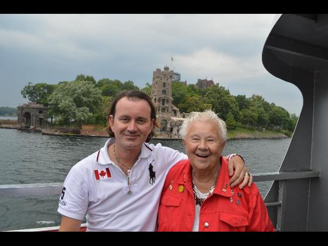Boldt Castle Alster Tower on Heart Island in the Thousand Islands of the Saint Lawrence River