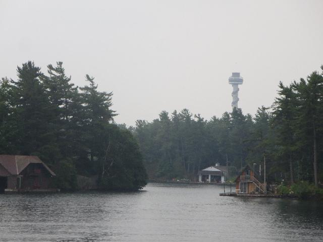 1000 Islands Skydeck Tower on Hill Island in Ontario Canada