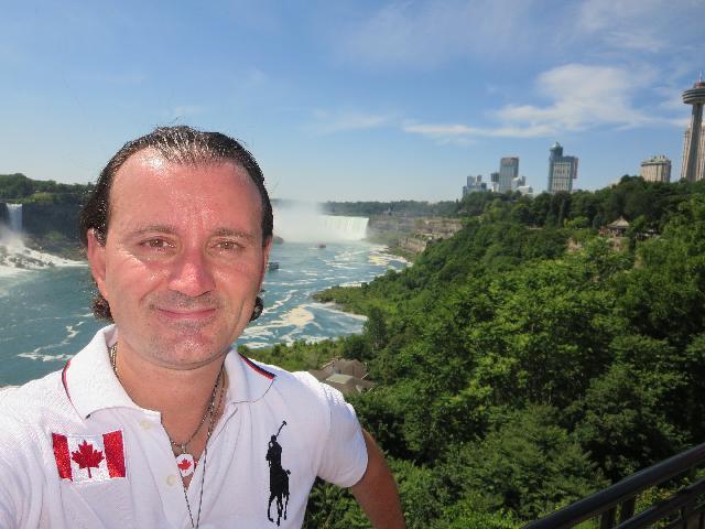 Visiting Niagara Falls, Horseshoe Falls, in Ontario, Canada
