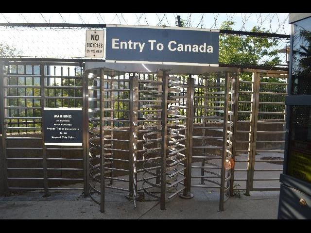 Entry To Canada across Rainbow Bridge to the Canadian Province of Ontario from New York state, United States of America