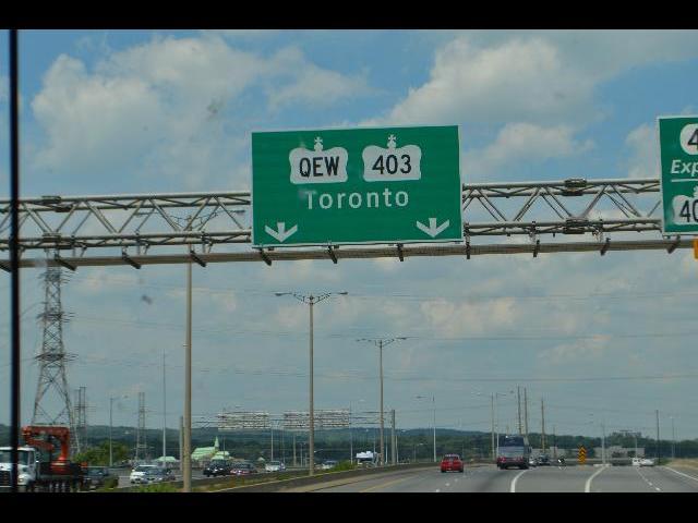 Toronto, Ontario, Canada highway street sign QEW 403