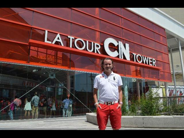 Visiting CN Tower (Canadian National Tower / Canada's National Tower) the 3rd tallest tower in the world and the tallest free-standing structure in the Western Hemisphere, which was declared one of the modern Seven Wonders of the World