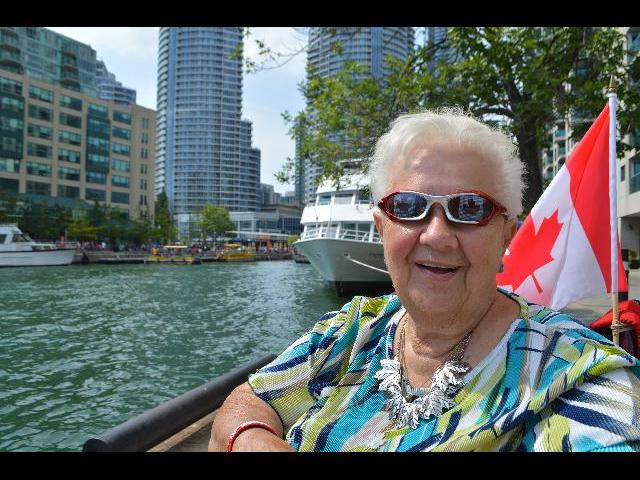 Visiting Lake Ontario in Toronto, Ontario, Canada