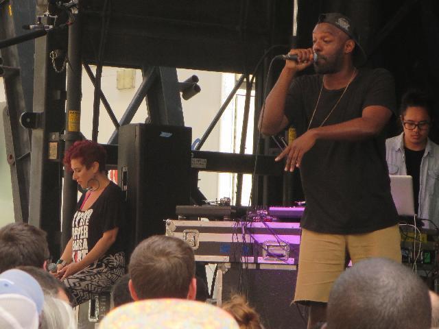 Shad (Shadrach Kabango / Shad K.) Canadian Hip-Hop artist performing at CIBC Soccer Nation FIFA World Cup celebration concert in Toronto, Ontario, Canada