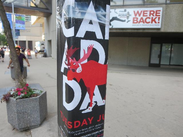 Canada Day July 1st Moose Flyer in Toronto, Ontario, Canada