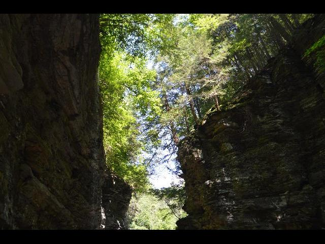 Natural rock formation in Watkins Glen State Park, Finger Lakes, New York