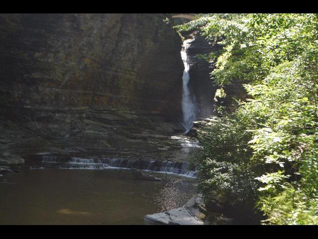Waterfall in in Watkins Glen State Park, Finger Lakes, New York