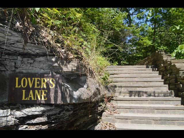 Lover's Lane in Watkins Glen State Park, Finger Lakes, New York