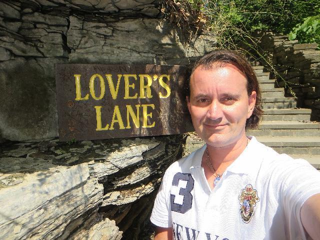Strolling Lover's Lane in Watkins Glen State Park, Finger Lakes, New York