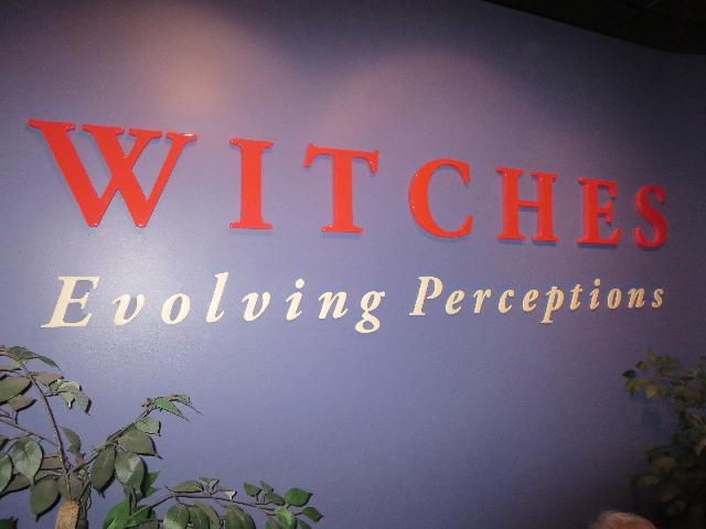 Witches Evolving Perceptions exhibit at the Salem Witch Museum 1692 in Salem, Massachusetts, USA