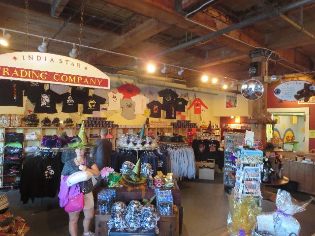 Salem Wax Museum of Witches and Seafarers gift shop in Salem, Massachusetts, USA