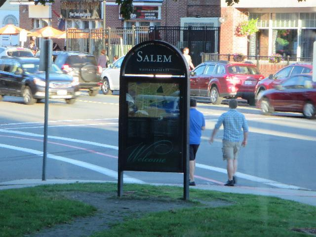 Welcome to Salem, Massachusetts, USA sign