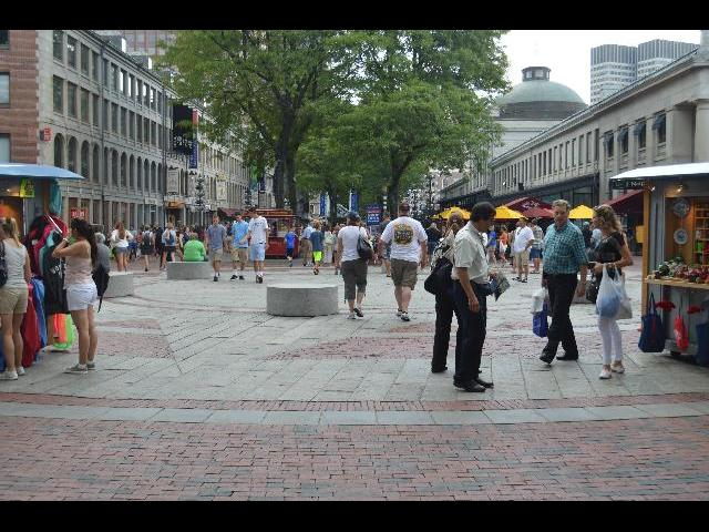 Quincy Market in Boston the Capital City of the Commonwealth of Massachusetts USA