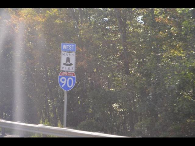 Massachusetts, Turnpike, MASS PIKE, Pilgrim hat interstate 90 highway sign