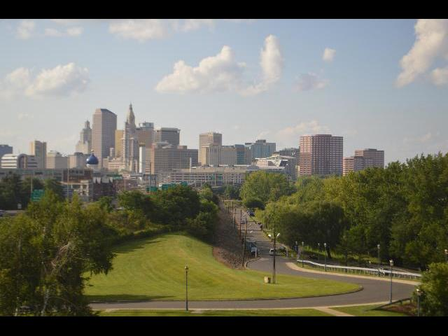 City Skyline of Hartford, CT the capital city of Connecticut, USA