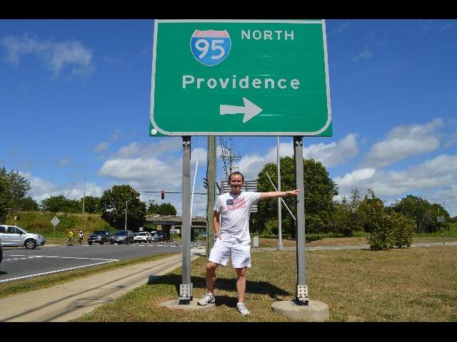Ryan Janek Wolowski visiting Providence the capital city of the state of Rhode Island, USA