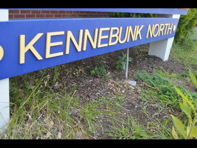 Kennebunk North sign in Maine, USA