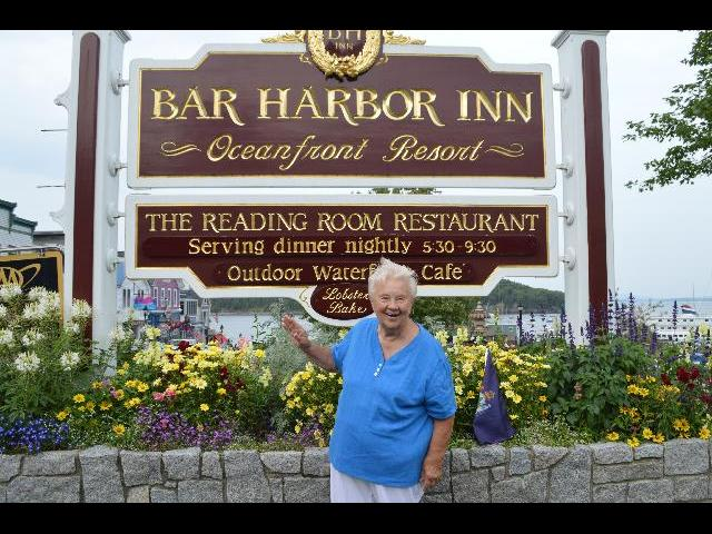 Waving hello from the Bar Harbor Inn of Bar Harbor, Maine, USA