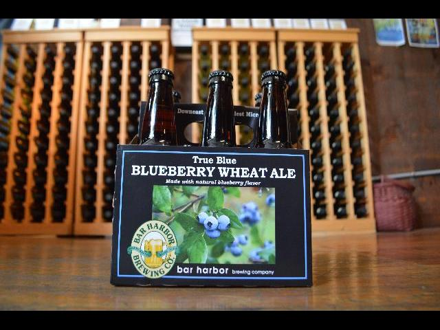 Bar Harbor Brewing Co famous New England Blueberry Wheat Ale beer from Bar Harbor, Maine, USA