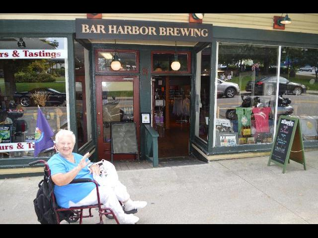 isiting Bar Harbor Brewing Co with famous New England Blueberry Wheat Ale beer in Bar Harbor, Maine, USA