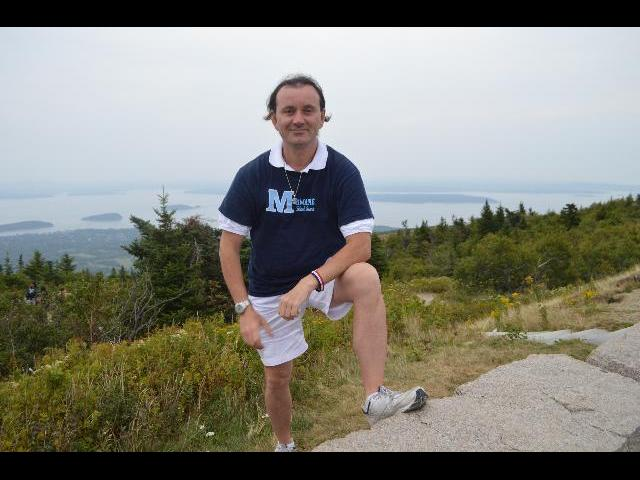 Hiking in Acadia National Park, Cadillac Mountain, Mount Desert Island, Bar Harbor, Maine, USA