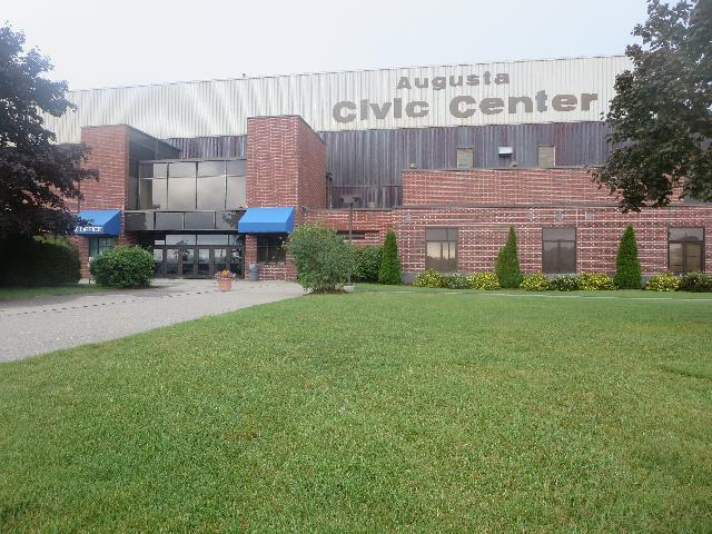 The Augusta Civic Center arena in Augusta, Maine, USA