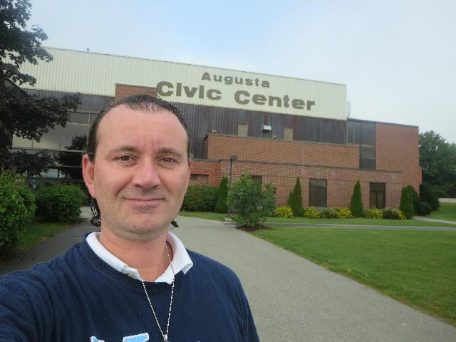 At the Augusta Civic Center arena in Augusta, Maine, USA