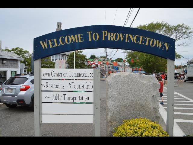 Welcome to Provincetown sign in Cape Cod, Massachusetts, New England, USA