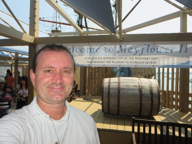 Ryan Janek Wolowski Welcome to Mayflower II Merchant Ship in in Plymouth, Massachusetts, USA
