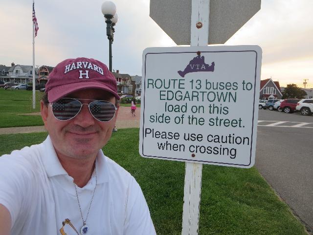 Ryan Janek Wolowski visiting Edgartown on Martha's Vineyard Island in Massachusetts