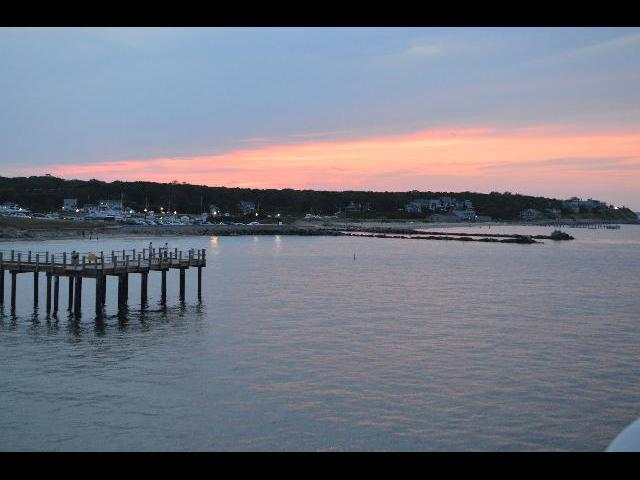 Summer sunset over Martha's Vineyard Island in Massachusetts USA
