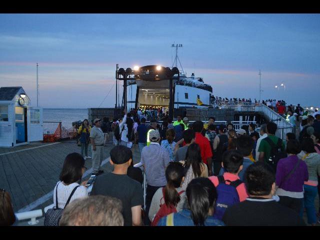 Steamship Authority Ferry Martha's Vineyard Oak Bluffs Terminal in Massachusetts USA