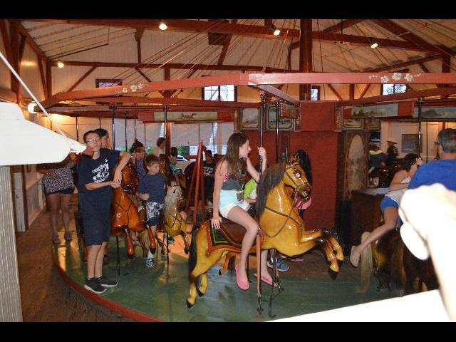 Flying Horses America's Oldest Carousel merry-go-round in Oak Bluffs on Martha's Vineyard Island in Massachusetts USA