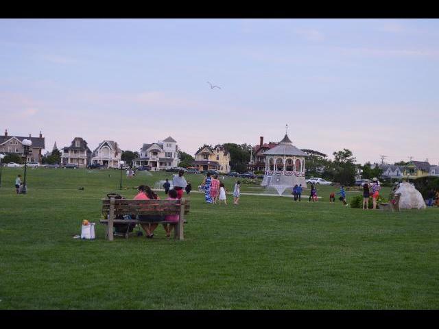 Ocean Park in Oak Bluffs, on Martha's Vineyard Island in Massachusetts USA