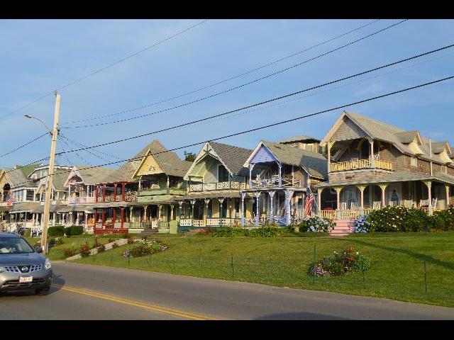 Waterfront homes in Oak Bluffs on Martha's Vineyard Island in Massachusetts USA
