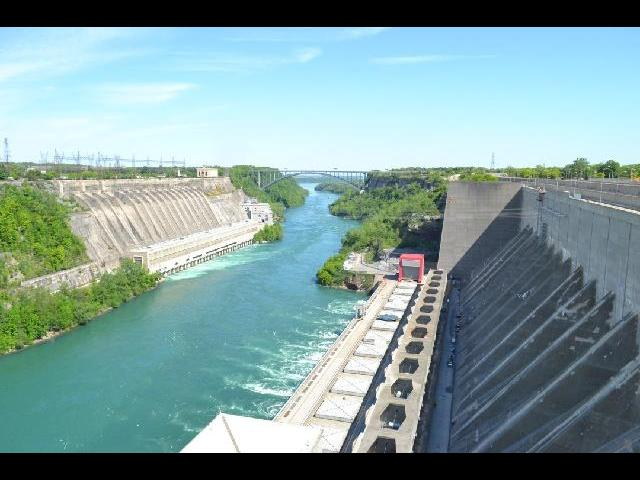 Niagara power plant - the dam that generates electricity for a major portion of new york is seen here.