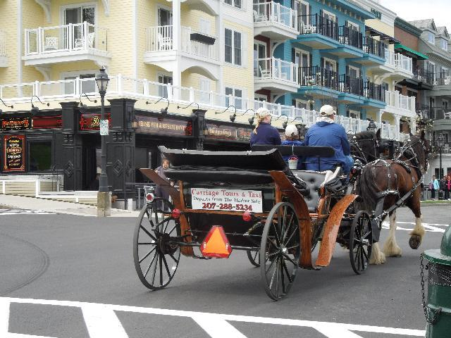 Local street view at Bar Harbor, ME