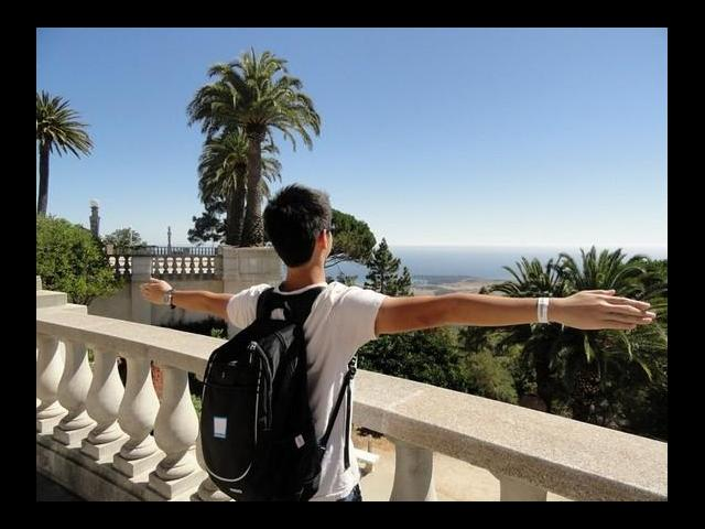 View of Pacific Ocean from Hearst Castle