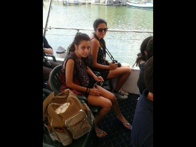 My daughters Fay and Shams in the cruise trip afforded with 1 day Miami Trip