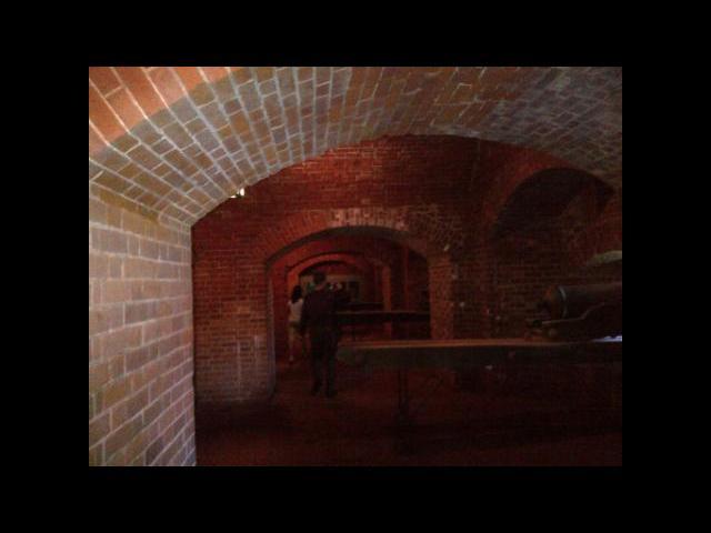Underground battlement in the Old Fort Niagara