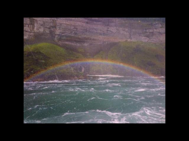 A rainbow at Niagara Falls