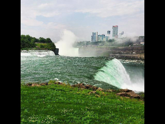 Niagara Falls up close.
