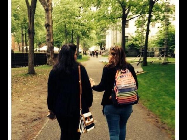 Walking around Harvard campus