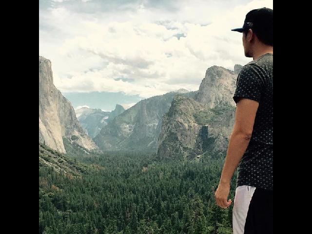 View of Yosemite, Half Dome! Stunning sight!