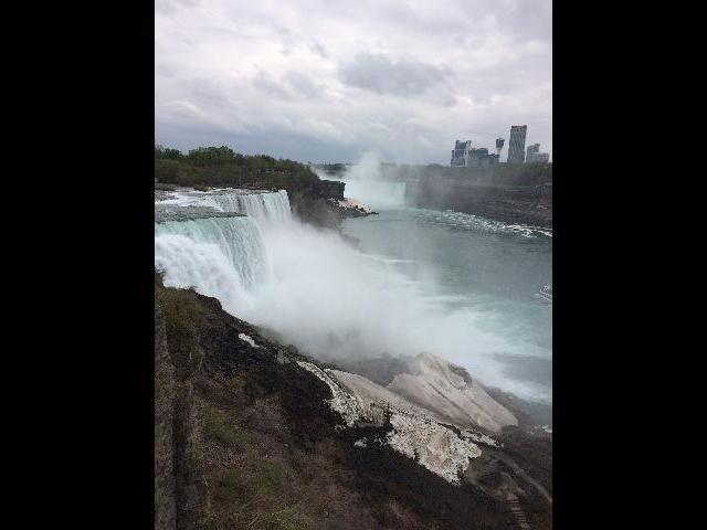 從美國一次看尼亞加拉瀑布。